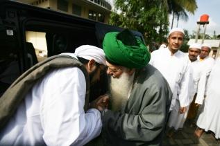 with Habib Naqib bin Syech Abu Bakar in Bogor